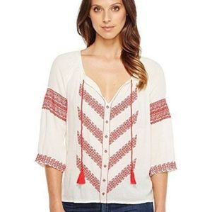 Luvky Brand boho peasant tunic embroided blouse